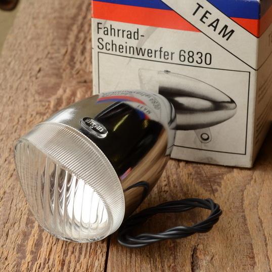 Union Scheinwerfer 6830, orig. 60-80er Jahre, verchromt.