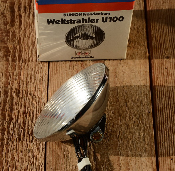"""Scheinwerfer """"UNION U100"""", verchromt, D=100mm"""