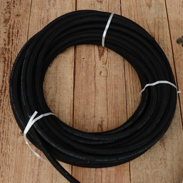 Benzinschlauch, schwarz,  gewebeummantelt, innen D= 10/ 5.5mm (passend für 6 mm Standardstutzen)