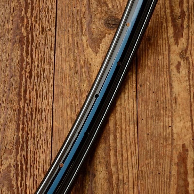 """Fahrradfelge 26"""" x 1,75 schwarz lackiert, 36 Loch, Handlinierung im Dek.10 blau weiss"""