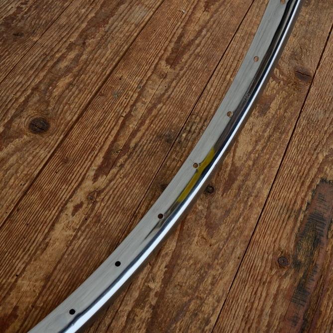Fahrradfelge Kastenprofil, 27 x 1  1/4 , (630), verchromt, 36 Loch, alte Neuware der 60-80er Jahre