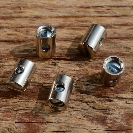Schraubnippel, D=5.0/2.0mm, L=7mm, Messing vernickelt, FIX Bez. 23B