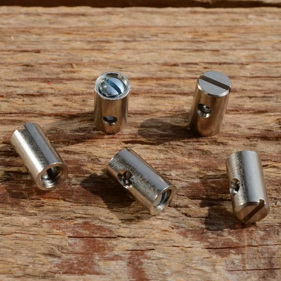Schraubnippel, D=5.5/2.5mm, L=10mm, Messing vernickelt, FIX Bez. 23A