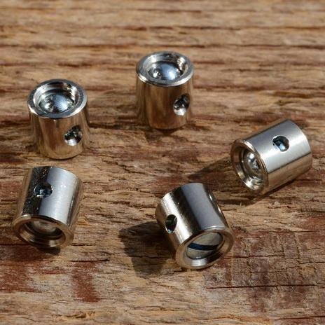 Schraubnippel, D=7.0/2.2mm, L=7mm, Messing vernickelt, FIX Bez. 27A