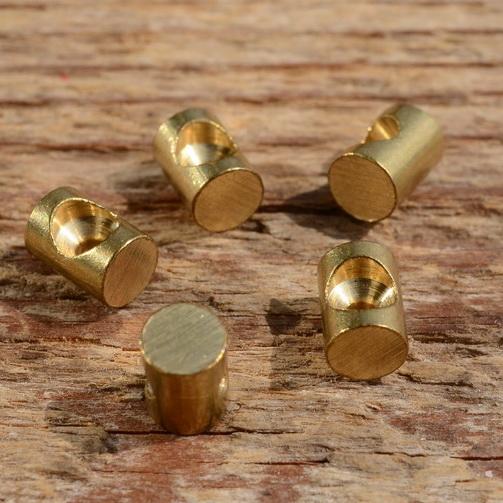 Lötnippel, D=5.0/1.8mm, L=7.0mm, Messing, FIX Bez. 12B