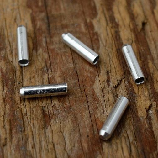 Abschlußhülse, D=2.7/1.6mm L=10mm, Aluminium
