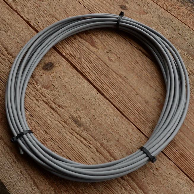 Bowdenzug Außenhülle, silber grau, Durchmesser außen 5.0mm, Durchmesser innen 2.8mm, Preis pro Meter