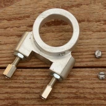 Kompressionsgriff für LOHMANN Fahrradmotor, nur Kopfteil für 22mm Lenker incl. Stellschrauben, s. Bild