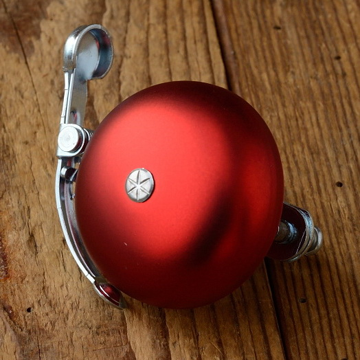 "Glocke ""PING"", für Rennrad/Sportrad, rot, D=50mm"