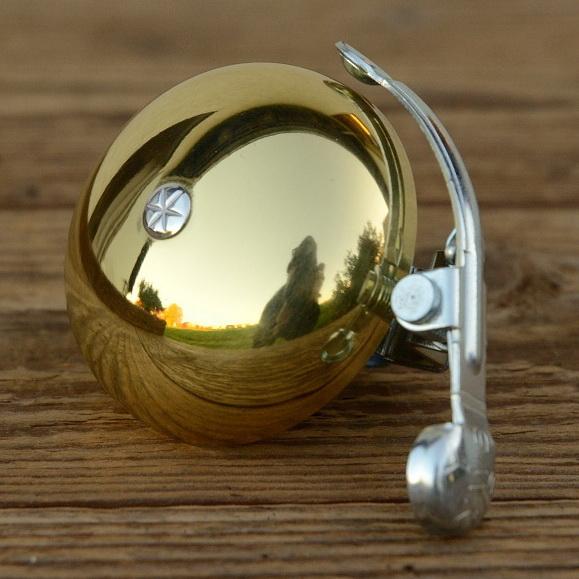"""Glocke """"PING"""", für Rennrad/Sportrad, gold hochglanzpoliert, D=50mm"""