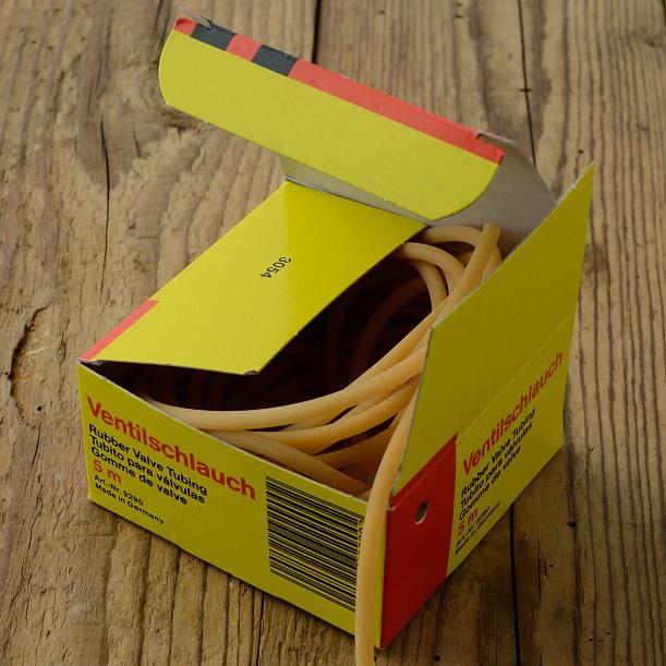 Ventilschlauch,  10 cm Stück, Gummi, orig. deutsche Qualitätsware aus Lagerbestand !