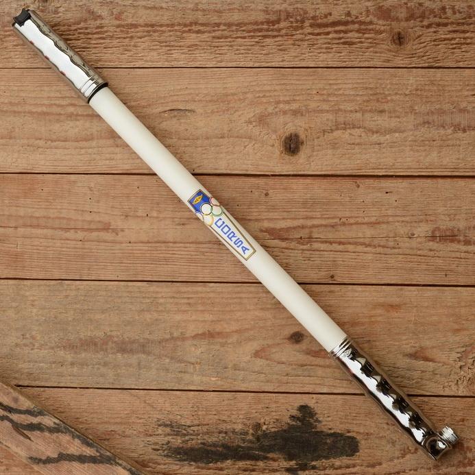 """Luftpumpe """"REG CORSA"""", weiß / verchromt, federnd, für Rahmenhöhe 48-50cm"""