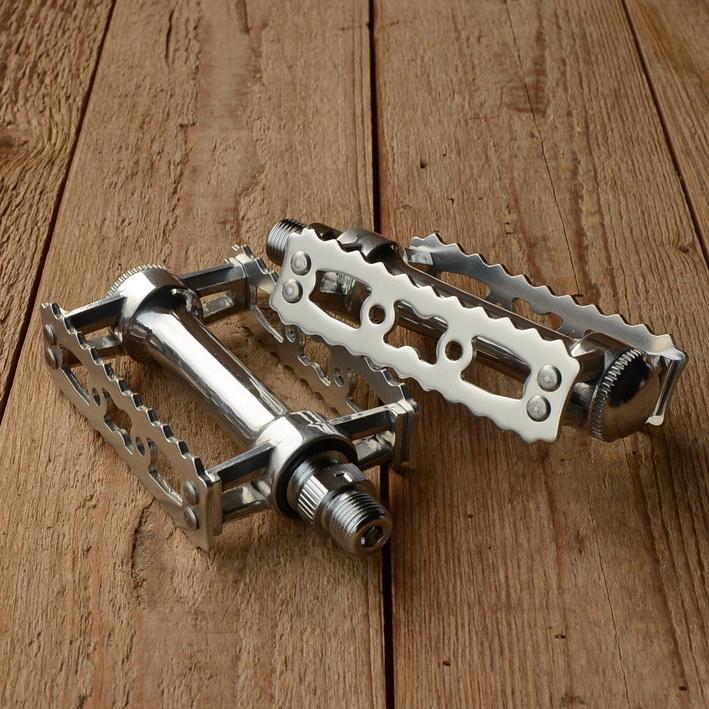 """Pedale """"MKS RATTRAP """", Aluminium, breite Ausführung, passend f. 50/70er Jahre Räder"""
