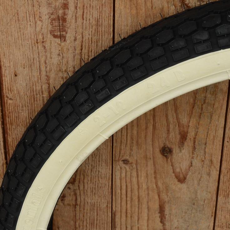 """Moped Reifen 23 x 2.00 (2 - 19) Continental """"KKS10 WW"""", Weißwand, schwarze Lauffläche"""