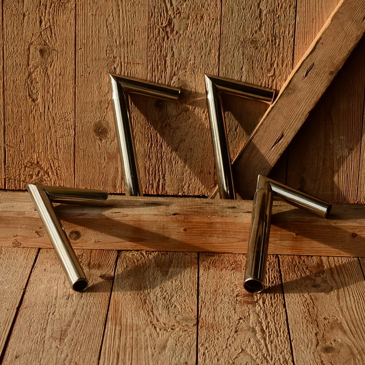 Winkel - Sattelstütze, vernickelt, L: 200 mm, Rohrdurchmesser: 25.8 mm