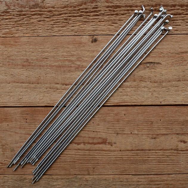 Speichen M3 (2.6mm), glatt, Stahl verchromt, ohne Nippel, Länge: 247 mm