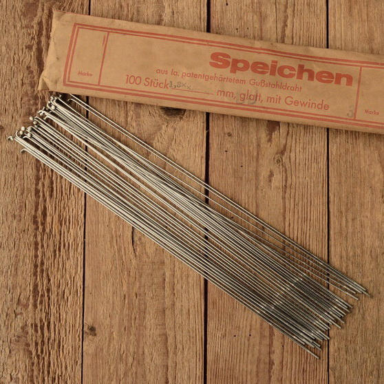 Speichen, DD 1.8 x 1.6 x 1.8 mm, doppelt endverstärkt, vernickelt, ohne Nippel