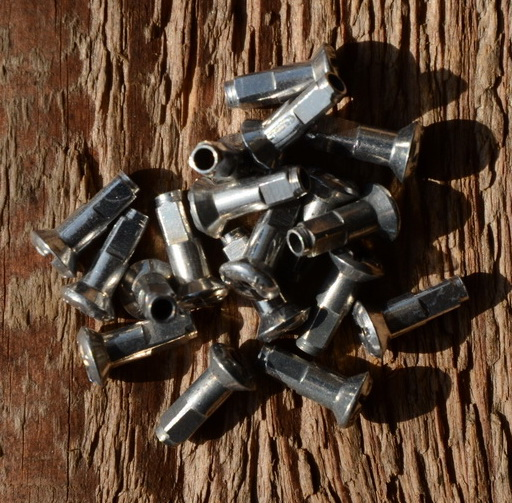 Speichennippel 1.8 mm, D-Schaft=4.0mm, L=11mm, Messing vernickelt