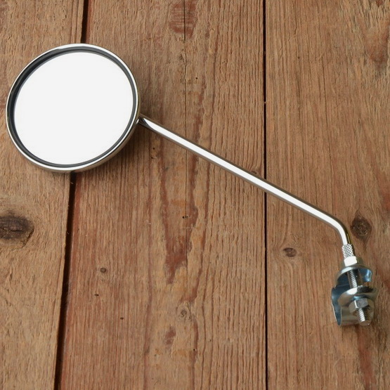 """Spiegel """"UNIVERSAL"""", verchromt, Anbau  links oder rechts möglich, sehr zierliches Modell, D: 75 mm"""