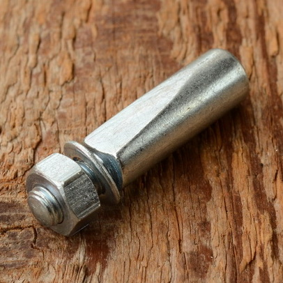 Kurbelkeil D=10 mm, Stahl, glanzverzinkt, langer Anschliff (Standardausführung)