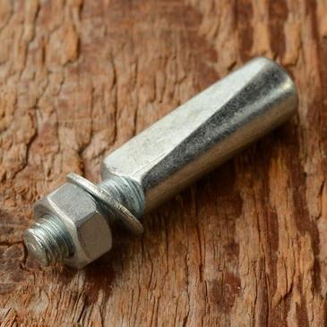 Kurbelkeil D=9.5mm, Stahl, glanzverzinkt, langer Anschliff (Standardausführung)