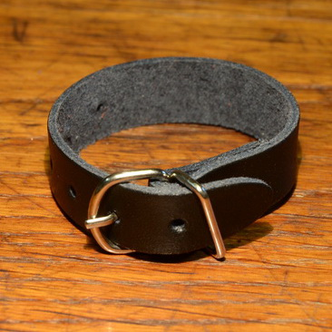 Lederriemchen 18 cm, schwarz