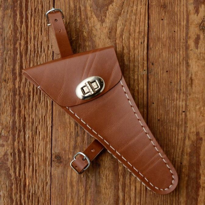 Werkzeugtasche, Lefa, braun, Beschläge vernickelt, passend für viele Damenfahrradklassiker