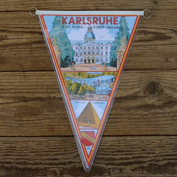 """TOBI-Wimpel """"KARLSRUHE"""", 60/70er Jahre Altbestand"""