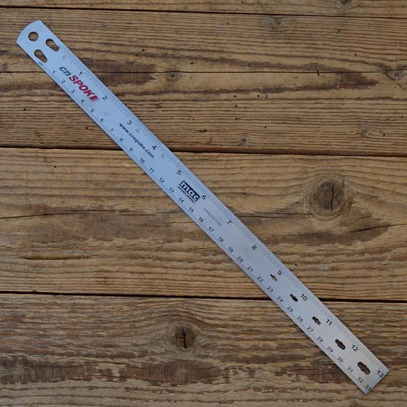 """Speichenlehre """"CN Spoke"""", Edelstahl, zur exakten Speichenlängen- und Durchmesser-Ermittlung , Länge max. 330 mm"""