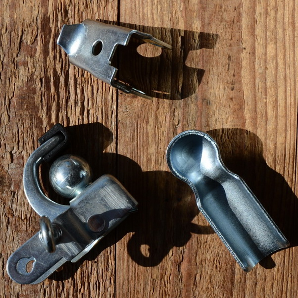 Anhängerkupplung Fahrrad, glanzverzinkt, klassische Ausführung mit Kugelkopf, für alle handelsüblichen Fahrradanhänger