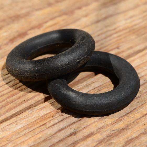 Lenkerring Lenkerschoner, schwarz, Gummi, 22 mm