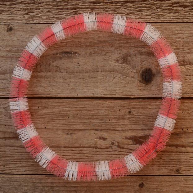 Nabenputzring, rot-weiß, Nylon, 1 Stück, L=650mm, für Mopeds mit Vollnaben, ablängbar