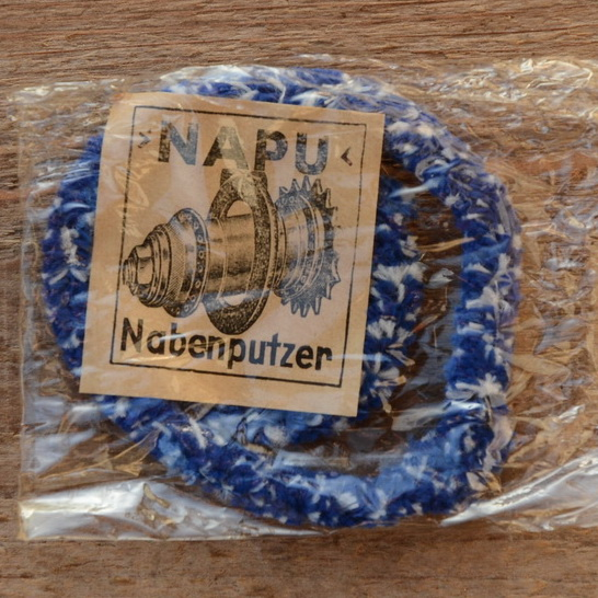 """Nabenputzringe """"NAPU"""" flauschig,  blau, für Fahrrad, 2 Stück"""