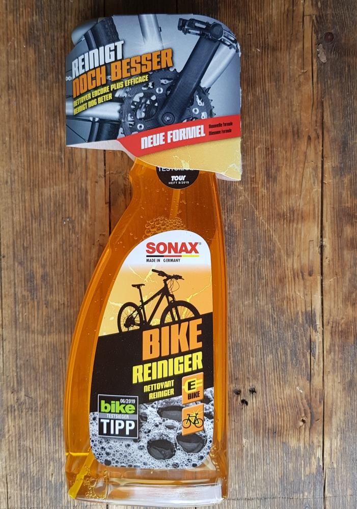 """Bike - Reiniger """"SONAX"""", jetzt die große 750 ml Sprühflasche, TESTSIEGER !, entfernt nahezu jeden Schmutz, korrosionsschützend"""