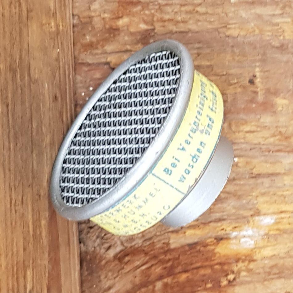 Luftfilter für BING Vergaser etc., orig. MANN, 50-60er Jahre,  Anschlußmaß ca. 23,5 mm, alte Neuware