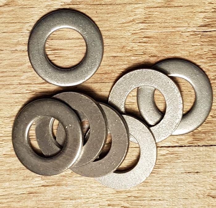 Unterlegscheibe für Nabe mit max. 10,5 mm Achse, Edelstahlausführung, D: 20 / 10,5 mm, 1 Stück