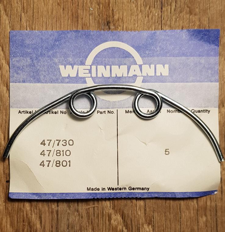 """Bremsfeder """"Weinmann"""" für Felgenbremse Typ 730, 810 und 801 u.a., Rennrad/Randonneur, chromatisiert, orig. 50-70er J."""
