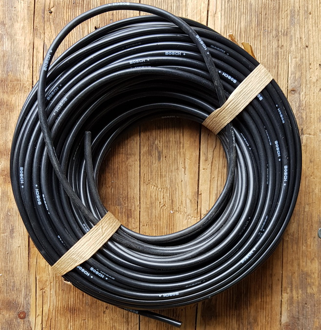 Zündkabel, schwarz, D=5mm, 50cm Stück, orig. aus altem BOSCH Lagerbestand