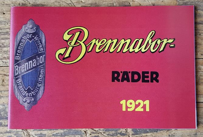 Katalog Brennabor 1921, älterer, hochwertiger Nachdruck in Kleinauflage, 48 Seiten, günstiger Restposten!!