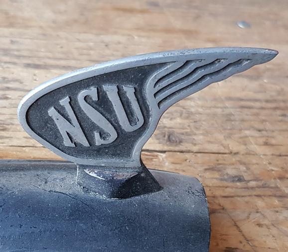 Schutzblechfigur NSU 30/40er Jahre, Zustand s. Bild