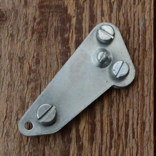 Dynamohalter, glanzverzinkt, L=65mm, passend zur Montage am Anlötsockel der Fahrradgabel, orig. 60-80er J.