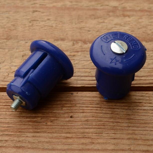 """Lenkerendstopfen """"MIL / REMO"""", blau, Kunststoff, orig. Altbestand"""