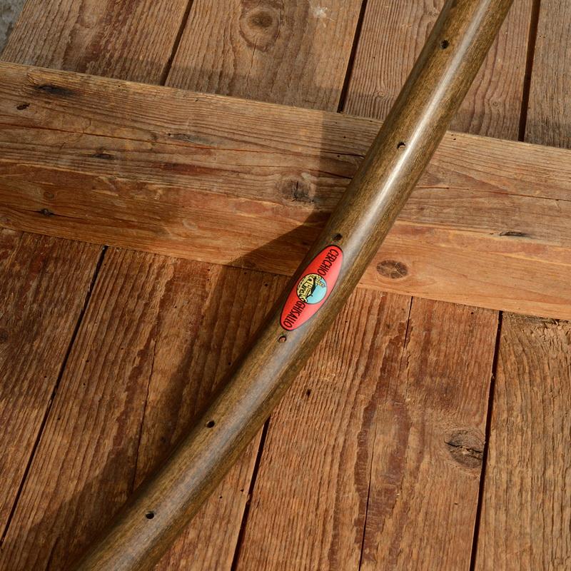 """Holzfelge 1Stück  f. Drahtreifen """"klassische Form"""", 28"""" (622),  braun gebeizt, 36 Loch, 28mm breit"""