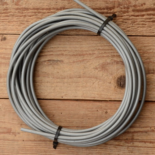 Bowdenzug Außenhülle, silber grau, Durchmesser außen 5.5mm, Durchmesser innen 3.2mm, 5m Ring