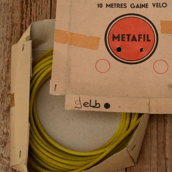 """Bowdenzug Außenhülle """"METAFIL"""", gelb, Durchmesser außen 5mm, Durchmesser innen 2.8mm"""