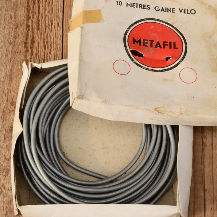 """Bowdenzug Außenhülle """"METAFIL"""", silbergrau, Durchmesser außen 5mm, Durchmesser innen 2,8mm"""