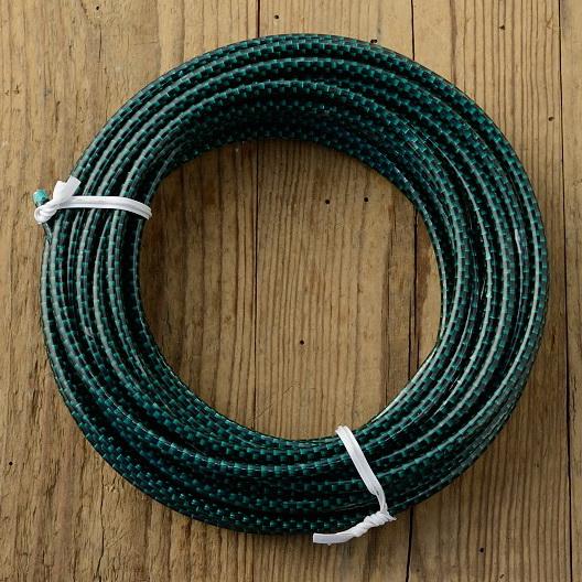 Bowdenzug Außenhülle, grün/schwarz kariert, Durchmesser außen 5.0mm, Durchmesser innen 2.5mm, pro Meter