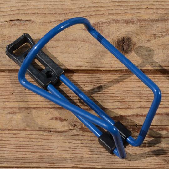 Halter für Trinkflasche, blau, Alu / Kunststoff, zur Rahmenmontage, NOS