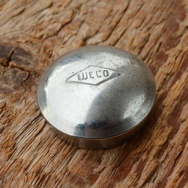"""Pedalkappe, """"WECO"""", glanzverzinkt, D_innen=22.5mm D_aussen=24.5mm, orig. alte Neuware"""