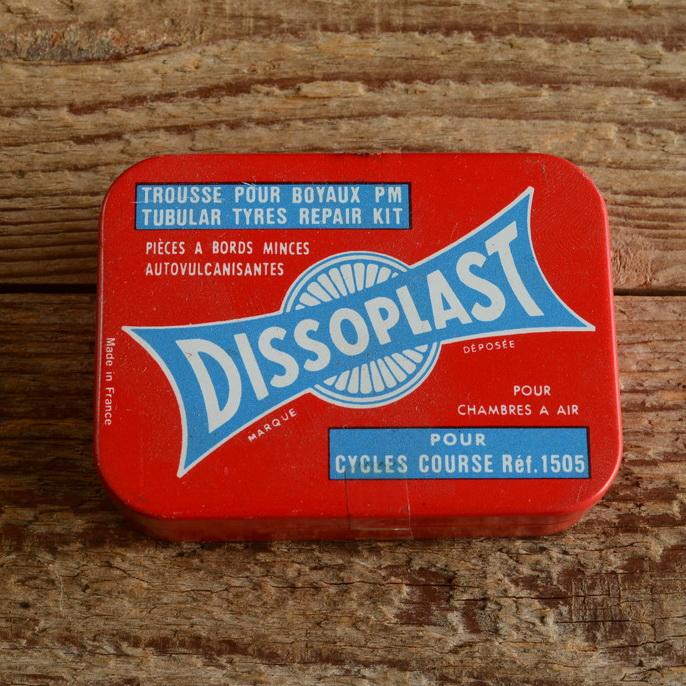Schlauchreifen Reparaturset, orig. in Blechdose, alter Bestand der 60/70er Jahre